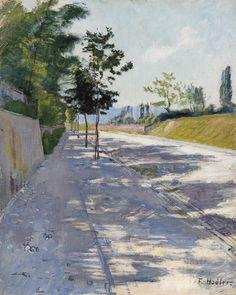 Strasse von St. Georges bei Genf, ca 1890, Ferdinand Hodler. (1853 - 1918)