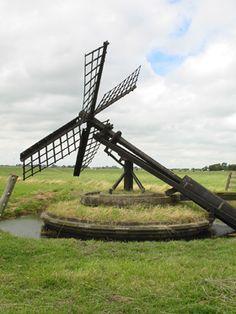 Polder mill (tjasker), Workum, The Netherlands