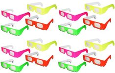 16 Pairs Prism Diffraction Neon Fireworks Glasses - For Laser Shows, Raves, 2015 Amazon Top Rated Prisms & Kaleidoscopes #Toy