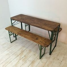 Customised Length Vintage German Beer Table And Benches