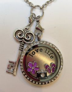 DESIGN YOUR OWN Living Locket, Memory Locket w necklace, plate, charms, dangle on Etsy, $45.00