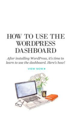 After installing WordPress, it's time to learn to use the dashboard. Here's how!