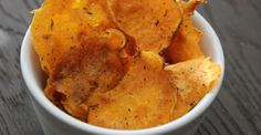 sweet potato chips and cajun roasted chickpeas