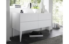 Commode blanche design Adelia