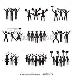 crowd of people silhouette - Google Search