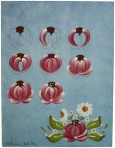 Prancha Bauern by Cristina Bottallo- Brazilian Decorative Painting Artist Acrylic Painting Tutorials, Painting Patterns, Acrylic Art, Tole Painting, Artist Painting, Fabric Painting, Rosemaling Pattern, Fork Art, Norwegian Rosemaling