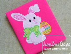 Bunny 15 with Easter Egg by JazzyZebraDesigns on Etsy