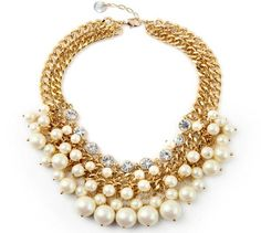 2016 Chic Necklaces Layered Faux Pearl Alloy Statement Necklaces Choker Necklaces Choker Collar Necklaces For Women From Janet521, $9.65 | Dhgate.Com