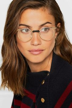 2aa26e102 GUCCI stylish Round-frame gold-tone optical glasses #stylisheyeglasses  Okuliare, Slnečné Okuliare