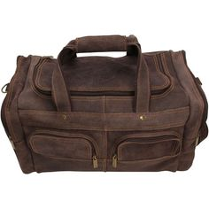 Kansas City Chiefs Distressed Leather Duffel Bag – Brown