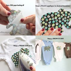FREE SHIPPING Set of 15 iron on fabric shapes for woodland theme gender neutral baby shower activity or decoration; decorating onsie actvity? :)