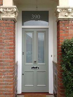 Farrow And Ball Front Door Colours, Victorian Front Doors, Yellow Front Doors, Wood Front Doors, Painted Front Doors, The Doors, Glass Front Door, Entry Doors, Best Front Door Colors