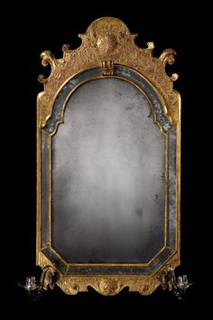 An Exceptional Example of an Antique Queen Anne Period Gilded Mirror (England)