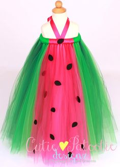 Tutu Dress Watermelon Birthday or by Cutiepatootiedesignz on Etsy