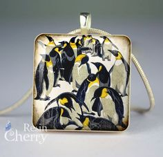 penguin scrabble tile pendant Scrabble Tiles, Resin Pendant, Penguins, Fashion Backpack, Backpacks, Pets, Trending Outfits, Unique Jewelry, Handmade Gifts
