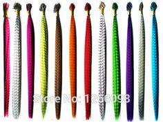 Heißer verkauf Mode haare zubehör Graubärfeder Hairwear Extensions 16 zoll straigth haarschmuck mit frei perlen und haken