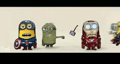 Funny pictures about Despicable Avengers. Oh, and cool pics about Despicable Avengers. Also, Despicable Avengers photos. The Avengers, Minion Avengers, My Minion, Minion Stuff, Avengers Humor, Avengers Cartoon, Minion Banana, Minion Humor, Avengers Quotes
