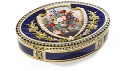 A Swiss gold, enamel and pearl-set oval snuff box, Rémond, Lamy & Co., Geneva, circa 1801-04 | Lot | Sotheby's