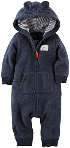 Carter's Baby Boys' Hooded/Eared Romper (Baby) - Bear - 6 Months