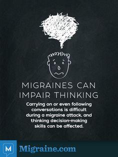 Migraine can impair thinking