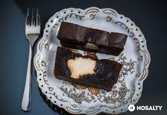 Levendulás-mascarponés brownie