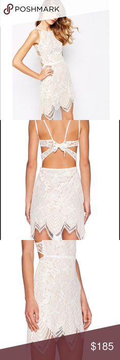 "For love and lemons guava mini dress Size small. Only tried it on. It's a little too short for me - I'm 6'2""- •no trades• 💔 For Love and Lemons Dresses Mini"