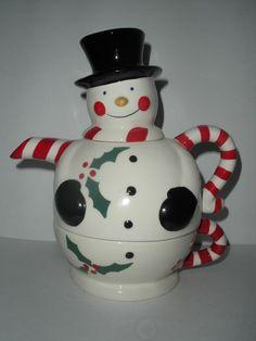 Temp-tations by Tara Snowman Tea-For-One Collection Teapot