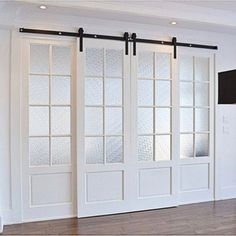 Classic Design Standard Double Track Barn Door Hardware Kit Best Picture For japanese sliding doors For Your Taste You are looking for something, and it is going to tell you exactly what you are looki Double Barn Doors, Double Sliding Doors, Japanese Sliding Doors, Solid Doors, The Doors, Entry Doors, Front Entry, Windows And Doors, Sliding Barn Door Hardware