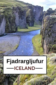 Fjadrárgljúfur is an Icelandic canyon with torturous shapes - Click to open the guide with many photos and detailed information to plan your visit