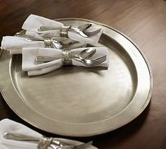 Thanksgiving Decorating & Thanksgiving Holiday Decor | Pottery Barn - Antique Silver Tray