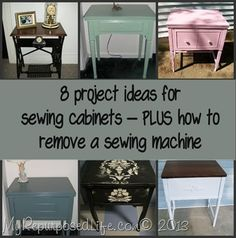 My Repurposed Life-Sewing Cabinets  It's common to see what can be done with the really old machines, but this has some great ideas for the newer generation of sewing cabinets.  Worth a look!