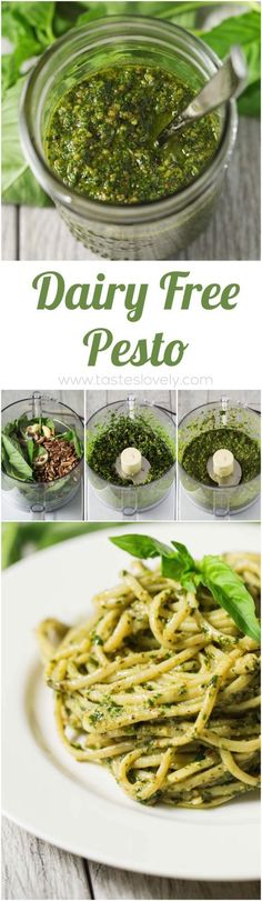 Dairy Free Pesto that is Paleo, and Vegan! Dairy Free Pesto that is Paleo, and Vegan! Dairy Free Pesto, Vegan Gluten Free, Paleo Pesto, Basil Pesto Vegan, Vegan Pesto Pasta, Paleo Whole 30, Whole 30 Recipes, Whole 30 Vegetarian, Vegetarian Recipes