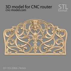 Bed Headboard Design, Headboards For Beds, Cnc Router, Bed Furniture, 3d Design, 3d Printing, Interior Design, Columns, Model