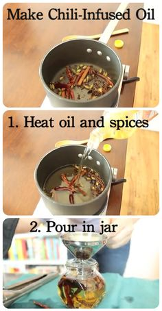 This chili-infused oil recipe couldn't be simpler.