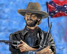 Outlaw Josey Wales - Clint Eastwood Print By Peter Nowell