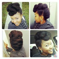 Fancy, french braided updo to protect your ends and look FAB while you do it. :-)