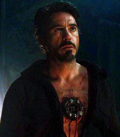 """Tony Stark in captivity (Robert Downey Jr., """"Iron Man"""")"""