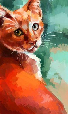 'Ginger' by RedGraf cat