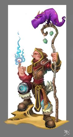 Torchlight Mage by Bing-Ratnapala on deviantART