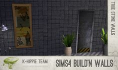 Mod The Sims - 7 Black Walls - true seamless - volume1