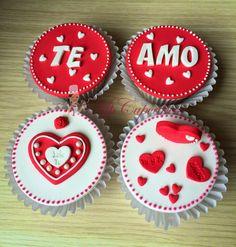 Cupcake de amor / te amo / corazones