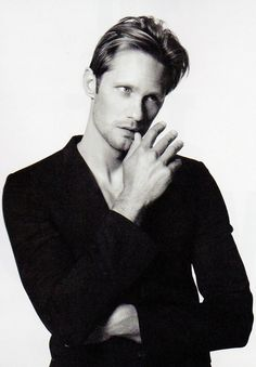 Alexander Skarsguard <3   YOU CAN ACTUALLY BUY TRUE BLOOD T-SHIRTS <3…