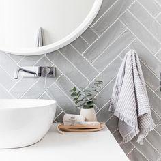 Light grey tiles in