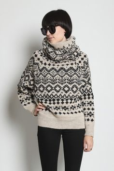 jacquard Ideias Fashion, Turtle Neck, Pullover, Knitting, Sweaters, Style, Tricot, Cast On Knitting, Stricken