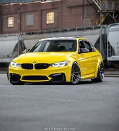 BMW F80 M3 Yellow Yellow Dirty Fellow www.asautoparts.com