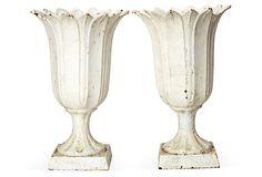 19th-C. White Iron Vases, Pair on OneKingsLane.com