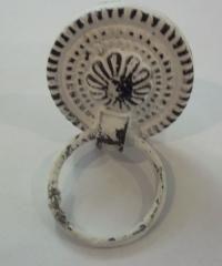ronde distressed hangknop met ring