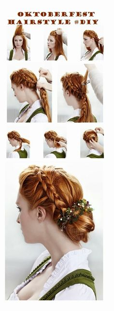 Style your hair in a romantic way for Oktoberfest