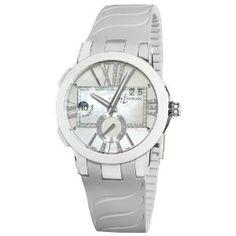 Ulysse Nardin Women's 243103/391 Executive Dual Time Mother of Pearl Diamond Dial Watch  $8,367.98  #UlysseNardin