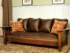Drop Arm Settle by Caledonia Studio, Arts & Crafts Furniture